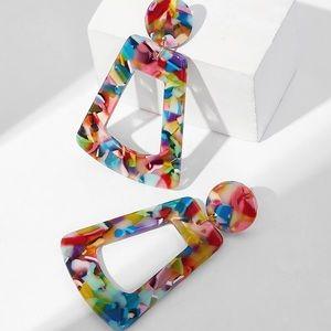 Jewelry - Acrylic Multicolor Drop Earrings